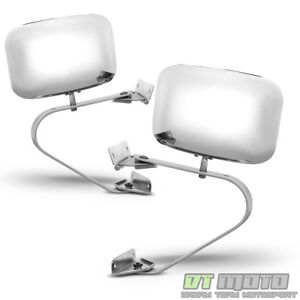1980 1996 Ford Bronco F Series Pickup Truck Chrome Manual Side View Mirrors Pair