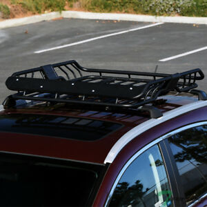 Topline Modular Steel Roof Rack Basket Cargo Carrier W wind Fairing For Toyota
