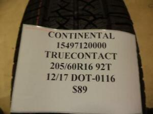 1 New Continental Truecontact 205 60 16 92t Tire 15497120000 Q8