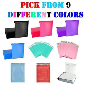 000 4x8 Colored Poly Bubble Mailers Padded Envelopes Shipping Bags Mailing 4x7