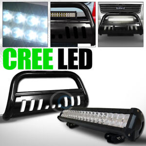 Fits 06 10 Ford Explorer Sport Trac Black Bull Bar Guard Frc 120w Cree Led Light