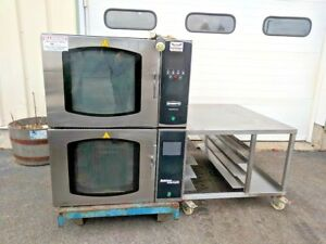 2 Belshaw Adamatic Fg 189 Stackable Convection Ovens W stands Steam