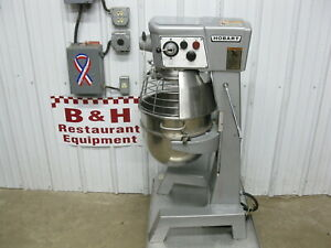 Hobart 30 Qt Heavy Duty Mixer D300t W Stainless Steel Bowl Guard Dough Hook