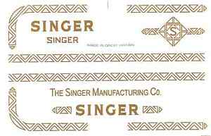 Singer Model 319 320 Sewing Machine Restoration Decals 40753