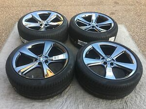 Bmw Oem Factory Genuine Style 128 21 X5 X6 Wheels tires tpms center Caps