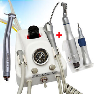 Dental Turbine Unit Work W Air Compressor Nsk Style High Low Speed Handpieces