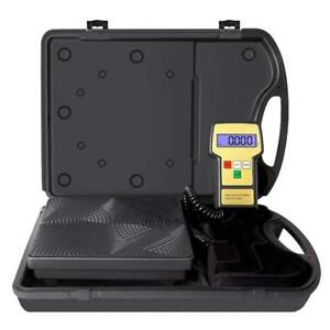 Electronic Digital Refrigerant Charging Scale Meters 220 Lbs For Hvac W case New
