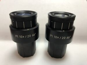 Zeiss Pl Plan 10x 21 Part 444032 Microscope Eyepieces 30mm Fit Adjustable