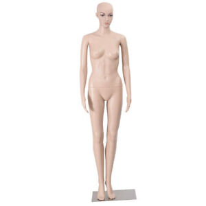 Full Size Straight Female Mannequin Plastic Realistic Display Dress Form Base