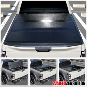 For 2014 2019 Ford F150 Super Crew Cab 6 5ft Bed Hard Tonneau Tri fold Cover