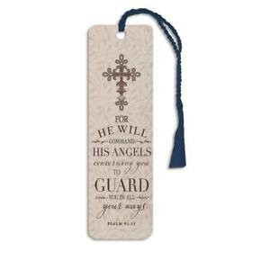 Angels Guard Psalm Glossy Paper Bookmark Stationery School Office Supply