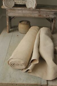 Antique Hemp Upholstery Fabric Linen Material Washed 10 Yards X 25 5in Wide
