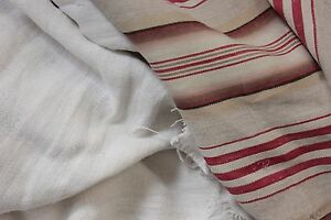 Antique Vintage French Fabrics Linen Ticking Project Bundle For Sewing