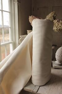 Cotton Fabric Bolt By The Yard Vintage French Heavy Weight Upholstery 52in Wide