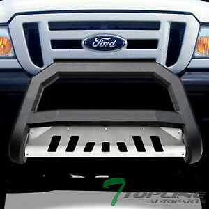 Topline For 1998 2011 Ford Ranger Avt Bull Bar Grille Guard Matte Blk aluminum