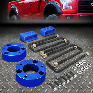 For 2004 2017 Ford F150 4wd Blue 3 F Spacers 2 R Blocks Raise Leveling Lift Kit