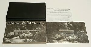 1996 Jeep Grand Cherokee Owners Manual V8 5 2l V6 4 0l 4x4 2w Limited Laredo Oem