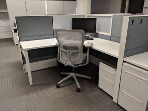 Used Office Cubicles Haworth Compose 6x6 Cubicles