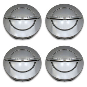Set 4 Genuine Oem Chrysler Wheel Center Hub Cap 1lb74trmab Satin Silver 2 5