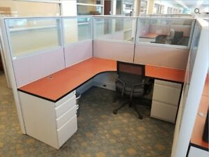 Used Office Cubicles Genesis G1 6x6 Cubicles
