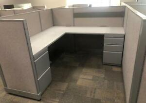 Used Office Cubicles Haworth Unigroup Too 6x6 Cubicles