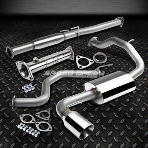 4 Rolled Tip Muffler Catback Adjustable Exhaust Pipe For 88 91 Honda Civic 3dr