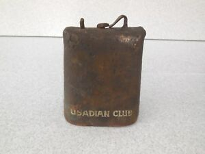Antique Hand Forged Steel Usadian Club Cow Bell Barn Find Central Minnesota