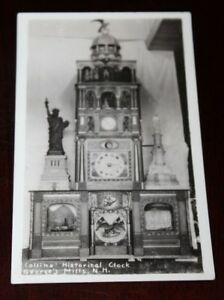 Antique Postcard Rppc Collins Historical Clock George S Mill Nh