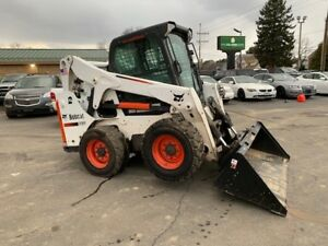 2015 Bobcat S650 Wheel Skid Steer High Flow Loader Erops Heated Air Conditioned