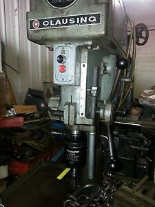 16 Clausing tapmatic Rx50 Bench Drill Press 1 0 Hp 220 440 Model 1639