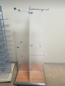 Store Retail Display Fixture Rolling Clothing Display 5 Tall