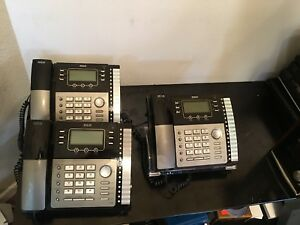 Lot Of 3 Rca 25424re1 a Visys 4 Line Business Phone Desk Telephone Tested