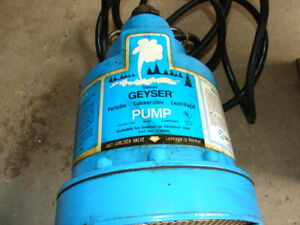 Sima Geyser Submersible Sump Pump Older But Hardly Used