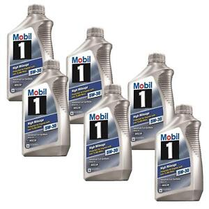 Mobil1 103767 High Mileage Engine Oil 5w 30 6 Quarts