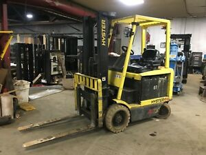 Hyster 4 Wheel Sit Down Forklift 6000lb Cap 130 Lift 42 Forks hd 36 V W chgr