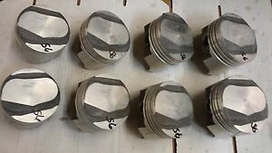 454 Chevy Forged Pistons 095 Dome Open Chamber Genuine Gm 6262973