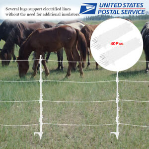 40 Pack 42 Treadin Electric Fence Posts Grazing Fencing Accessories