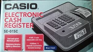 New Casio Se g1sc Electronic Cash Register Thermal Print Blue Color