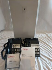 Avaya At t Partner Plus Communications System 2 Business Phones No Power Cord