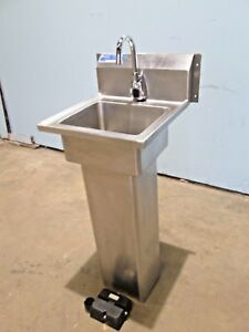 universal Commercial nsf S s Motion Activated Free Standing Hand Wash Sink