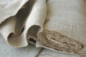 Nubby Hemp Fabric Antique Linen Bolt 7 Yards Upholstery Fabric Rustic Grainsack