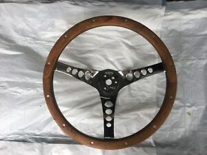 Superior Performance Products The 500 Steering Wheel Walnut Wood 13 1 2