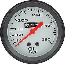 All80097 Oil Temperature Gauge 140 340 Degree F Mechanical Analog 2 5 8