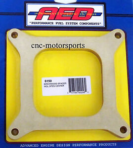 Aed Holley Carburetor Birchwood Spacer Open Center 4150 Carb 1 2 Inch