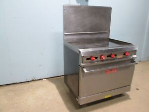 vulcan 36xl Heavy Duty Commercial S s nsf Natural Gas 36 Griddle W oven