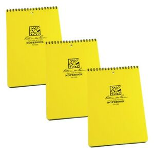 Rite In The Rain 169 All weather 6 inch By 9 inch Top Spiral Notebook 3 pack