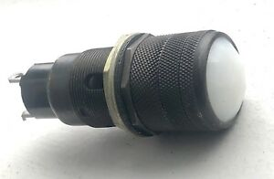 Vintage White Old Lens Dash Gauge Panel Light Hot Rod 1 Military Dialco Faceted