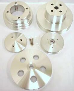 Oldsmobile 4 Pulleys Nose Cover Double 2 1 Groove Aluminum Set 350 455 Olds V8