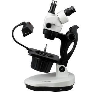 Amscope 3 5x 45x Advanced Jewel Gem Stereo Zoom Microscope
