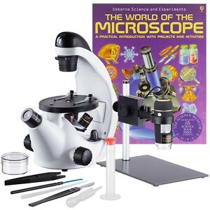 Iqcrew In50c utp030 wm Inverted Microscope Digital Microscope Set With Book